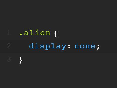 .alien alien css fun