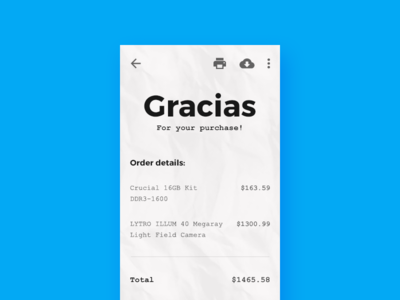 Mobile Payment Reciept Design by Mamun Srizon Dribbble – Receipt Design