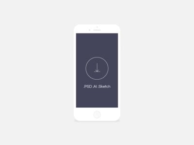 Free minimal light mobile device mockup
