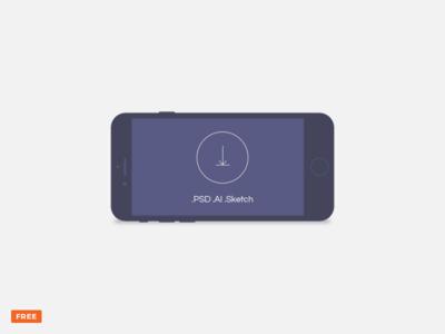 Free minimal dark landscape mobile device mockup