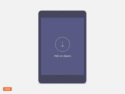 Free minimal dark tablet mockup