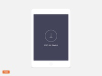 Free minimal light tablet mockup