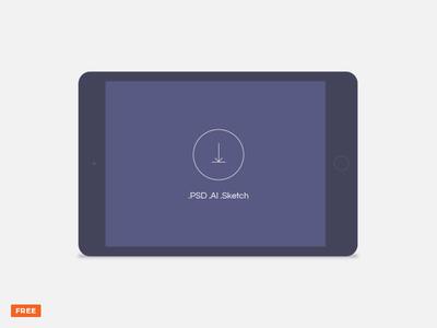 Free minimal dark landscape tablet mockup