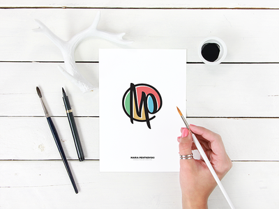 Monogram For Maria branding logo monogram