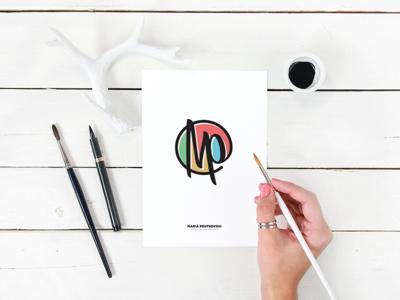 Monogram For Maria branding logo monogram
