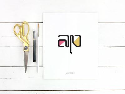 Monogram For Anna branding logo monogram