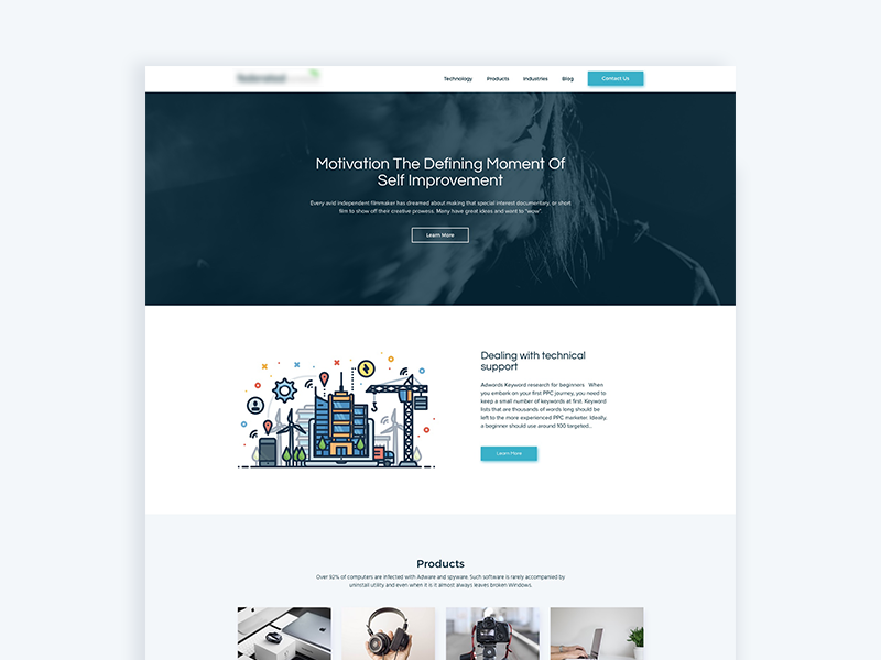 Marketing landing page design by mamun srizon