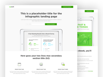 Resource Download Page Template Design ux ui landing page infographic ebook resources download template wordpress