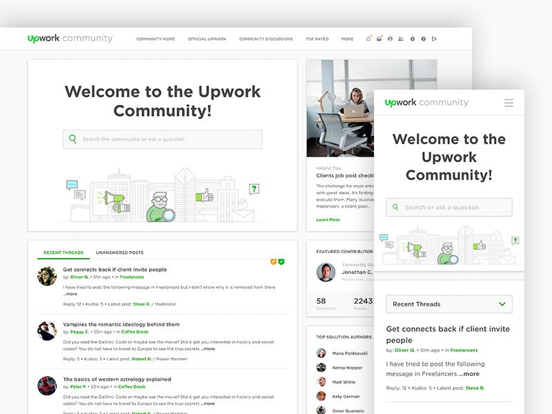 Upwork community redesign