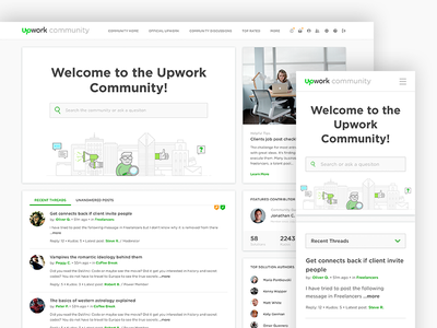 Upwork Community Redesign microsite ux ui forum community upwork