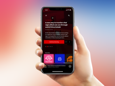 Podcast Player cross platform ios iphone x home player dark podcast