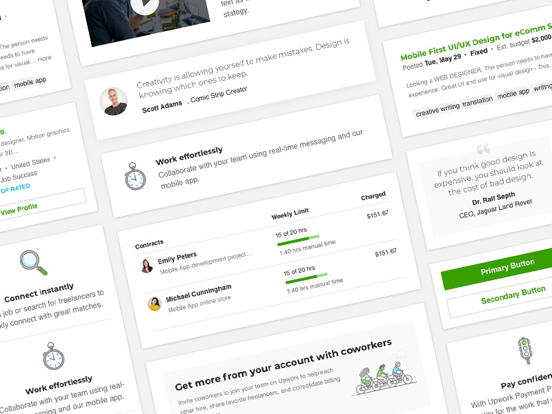 Upwork Email Design Playbook component library email design playbook ui kit ui pack style guide