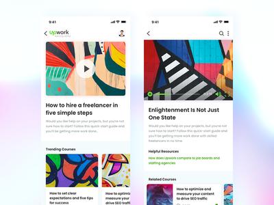 Learning Center Mobile UI Exploration responsive ixd app design mobile app web design ux ui