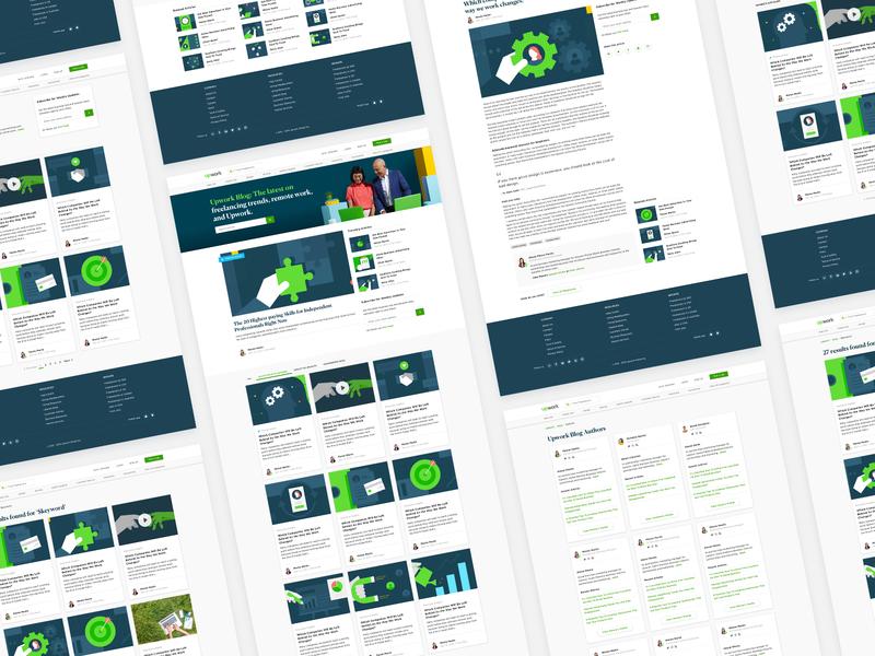 Upwork Blog Redesign blog design brand refresh upwork redesign blog wordpress web design flat ux ui