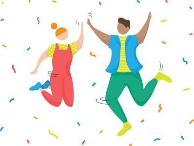 Celebrate illustration design shapes brand colorful geometric illustration