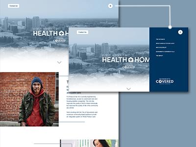 Navigation Menu side menu click navigation hover website design