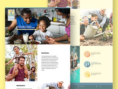Public Health Advocacy Site site layout design web website design