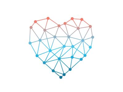 Prince of Wales Health Network Logo gradient line identity geometric shape brand logo