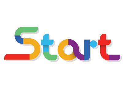 Logo identity geometric shape brand logo