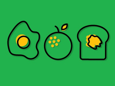 Breakfast Shapes line identity geometric shape brand logo