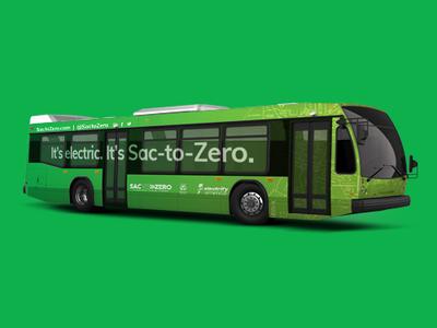 Bus Wrap green campaign brand gradient wrap