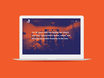 Ams Homepage ux ui duotone brand website