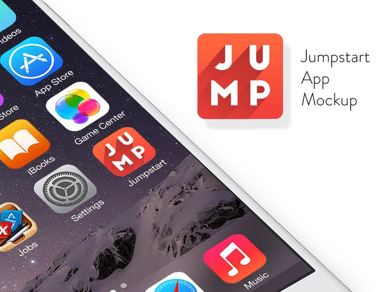 Jumpstart App app design logodesign branding identity design app logo brand