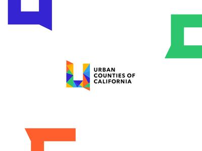 Urban Counties of California Logo california logo design geometric shapes brand logo