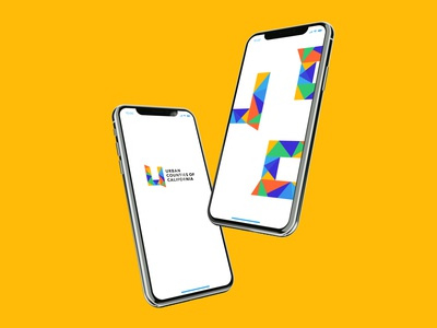 Urban Counties of California Brand iphonex mockup shapes geometric logodesign logo branding design branding