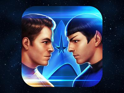 Star Trek Rivals ios elephantmouse spock quinto chris pine zachary james icon game kirk star trek board