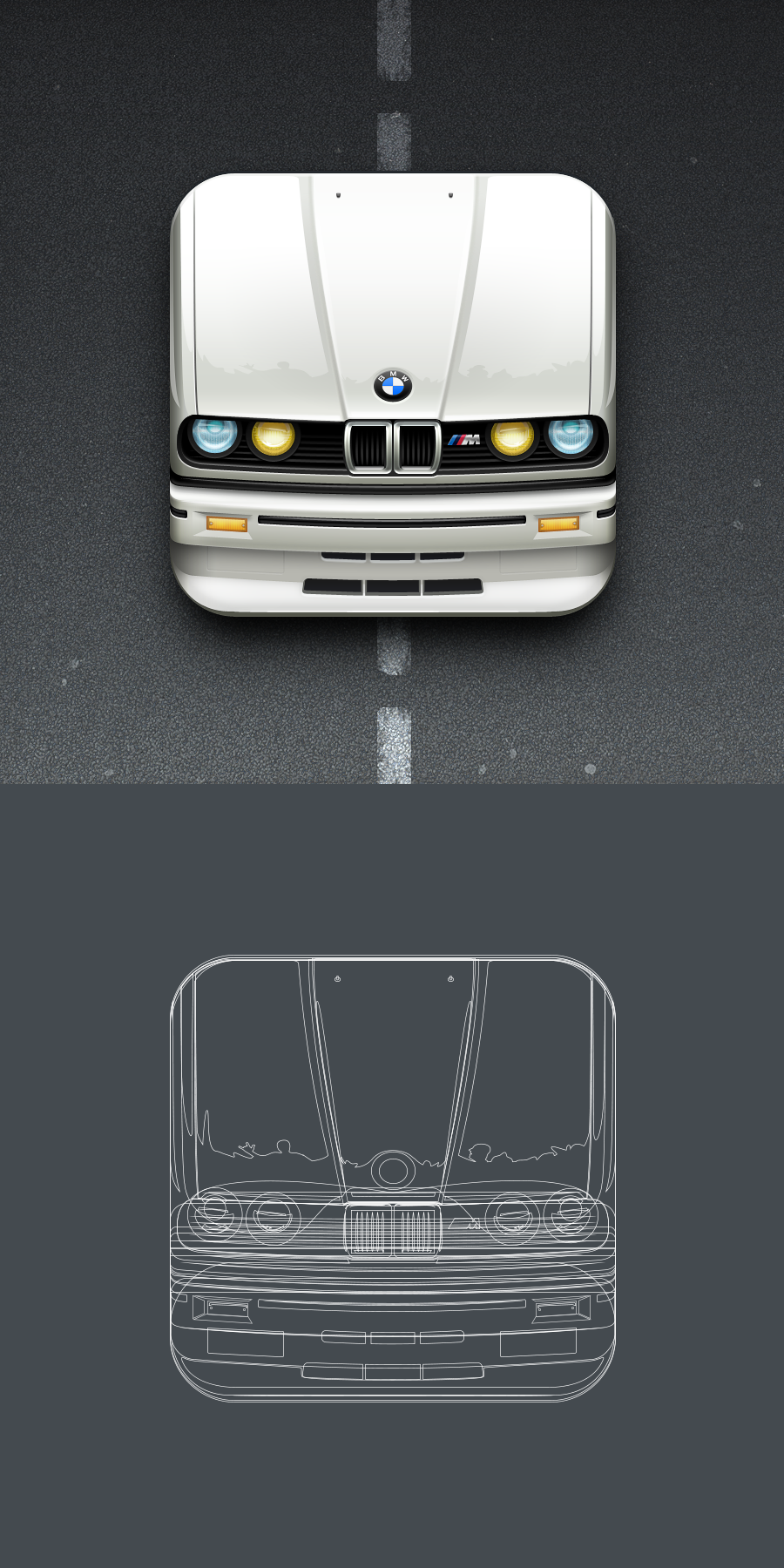 Bmw icon 512%d1%85512 and vector grid