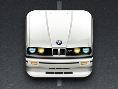 Bmw Icon icon car bmw sport reflection glare metal apple vector shapes photoshop iphone