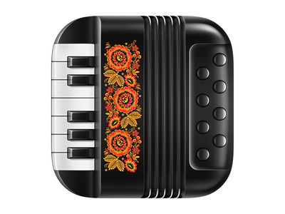 Accordéon accordion music fur interface icon application ios7 ios6 app synthesizer harmonica folk