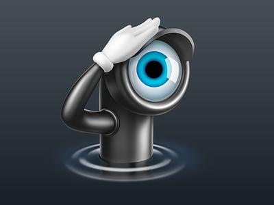 Periscope Pro video camera spy peeping surveillance icon periscope interface character zipzap macos