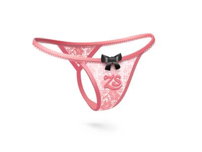 Thongs  sex  panties  bow  pink  lace