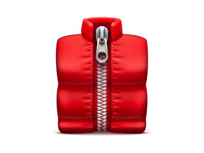 Zip sex vector icon illustrator soda red archiver jacket down jacket zipper zip rar