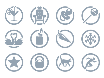 Safebook icons aids achievements pictograms safebook
