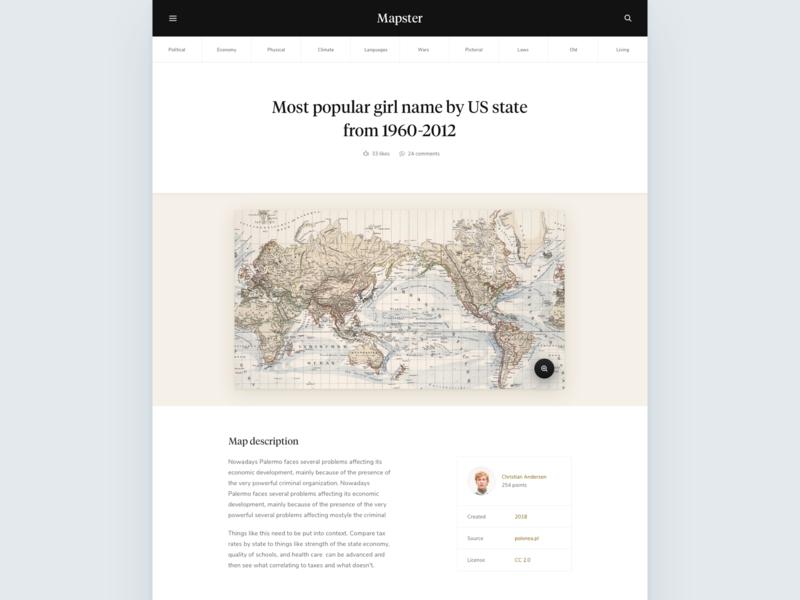 Mapster - Map page