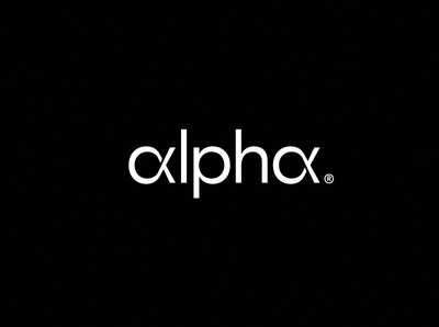 Alpha Logo minimal minimalistic tech startup simple wordmarks logotype logo alphabet logo inspiration designer black  identity brand  branding  design wordmark alpha perfect best app