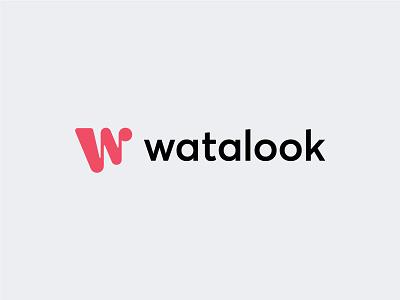 Watalook Logotype connecting personal people creative perfect grid monogram logo design logotype b2b saas software tool booking freelance startup expressive symbol w logo