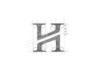H Monogram Sketch