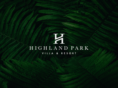 Highland Park Logo geometrical highland park handmade in progress sketch pencil work serif modern letter minimal luxury villa resort logotype logo h monogram exploration