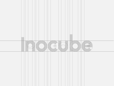 Inocube Wordmark Grid blue minimal modern pixel perfect developement geometry geometrical software dev developer custom wordmark logotype negative space click geometric flat grid out of the box logo mark symbol