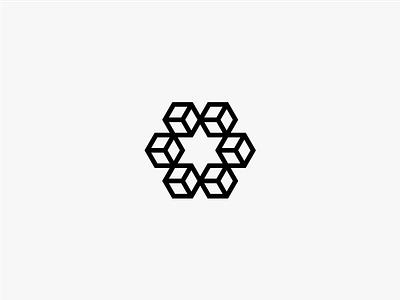 CubeStar Logo six jewish jew hexagram connecting advise advisor block chains connection kasparas sipavicius design futuristic future symbolism logo logotype icon blockchain crytpo cube