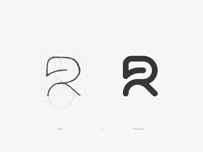 Tech R Logo process