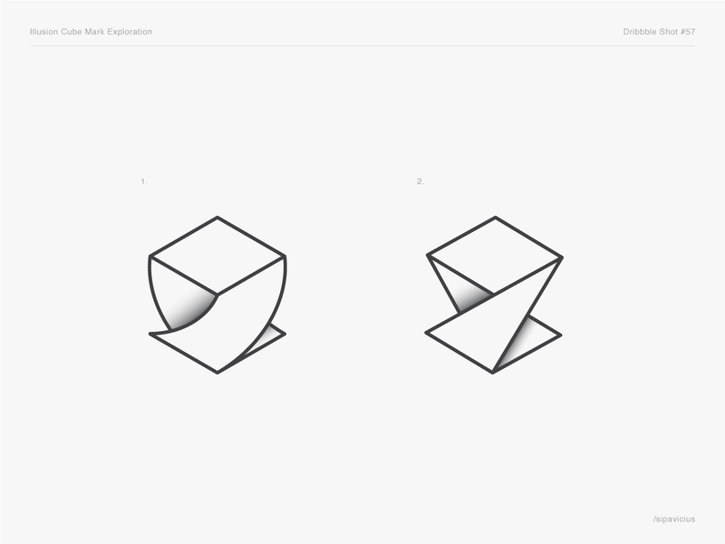Illusion Cube Mark Exploration illustration guidelines branding ui brand pixel corporate brand bitcoin crypto square blockchain cryptocurrency im pixel perfect developement software dev developer symbol branding web perfect design impossible cube shape mark monogram creative minimal out of the box awesome clever smart logo mark symbol negative space idea iconic logo