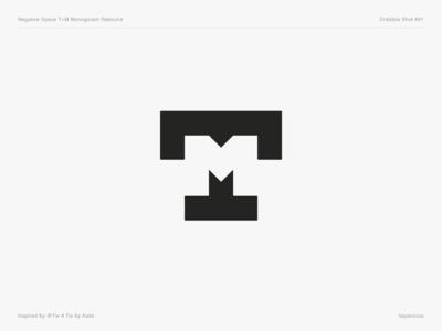 Negative Space T+M Monogram Rebound