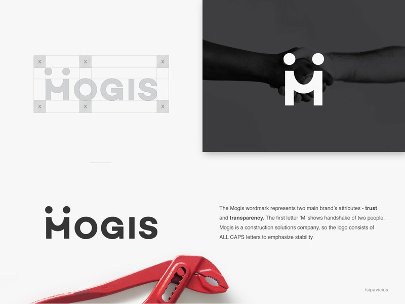 Mogis Wordmark logotype process strategy positioning guidelines branding minimal awesome clever smart bold visual construct connection trust stability stockholm minimalism people contruction company sweden identity designer vilnius out of the box pixel perfect developement typography symbol branding web perfect logo design custom wordmark logotype logo mark symbol idea iconic logo