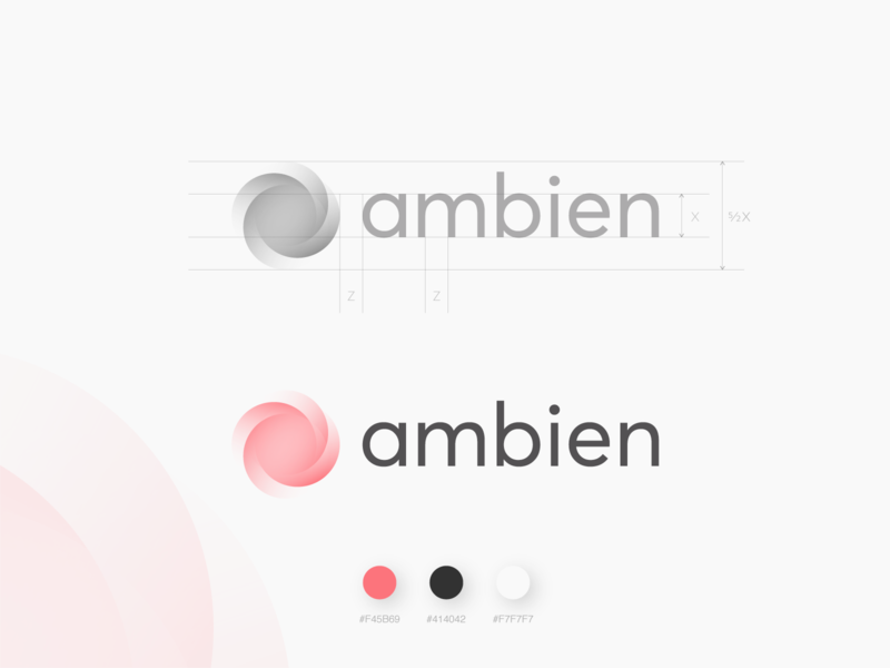 Ambien Logo Concept radial blur swirl ambien ambient energy pixel corporate brand negative space logotype modern wordmark simple guidelines branding software dev developer pixel perfect developement custom wordmark logotype symbol branding web perfect awesome clever smart logo mark symbol minimal idea iconic logo