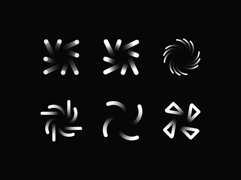 Swirl Symbol Exploration web app software dev developer icon ux typography branding vector ui identity designer vilnius design pixel perfect developement pixel corporate brand minimal mark monogram creative symbol branding web perfect negative space logo mark symbol